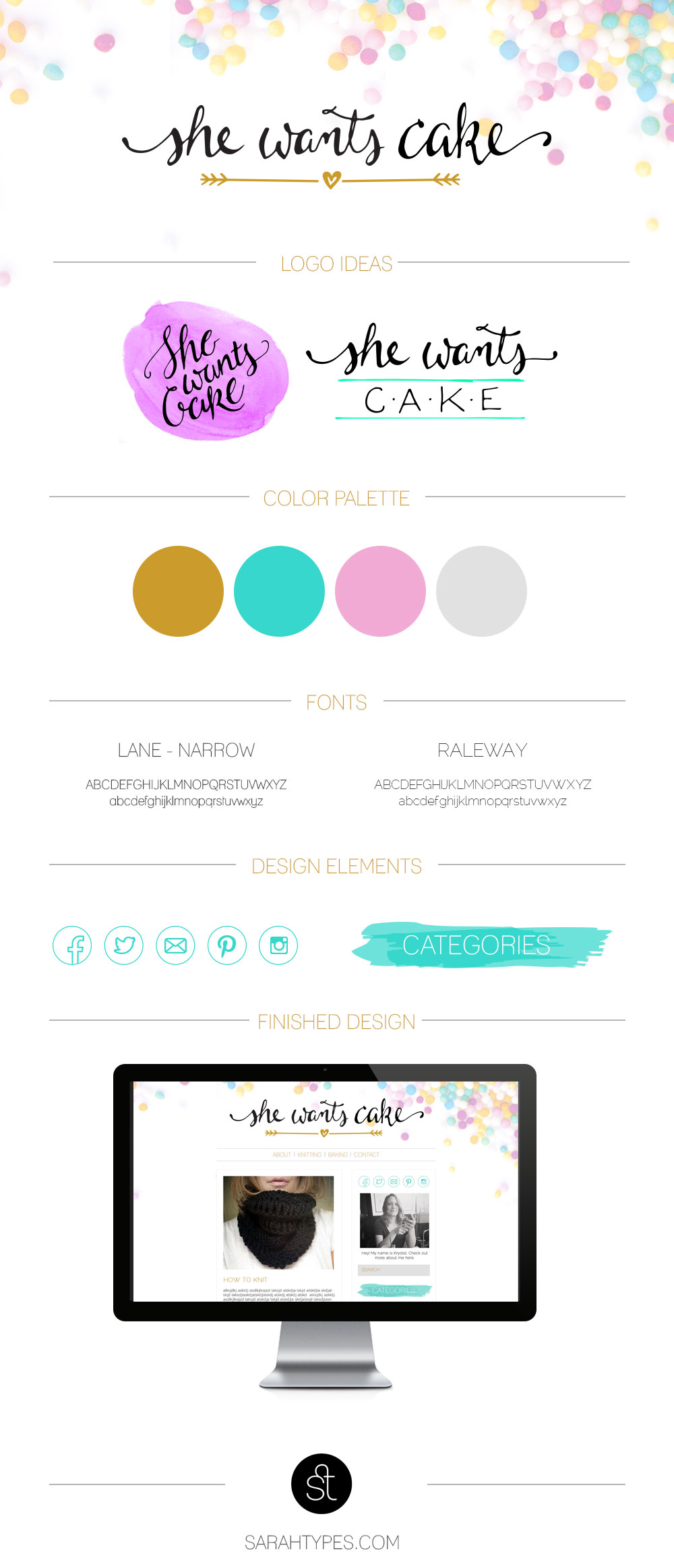 water color blog design