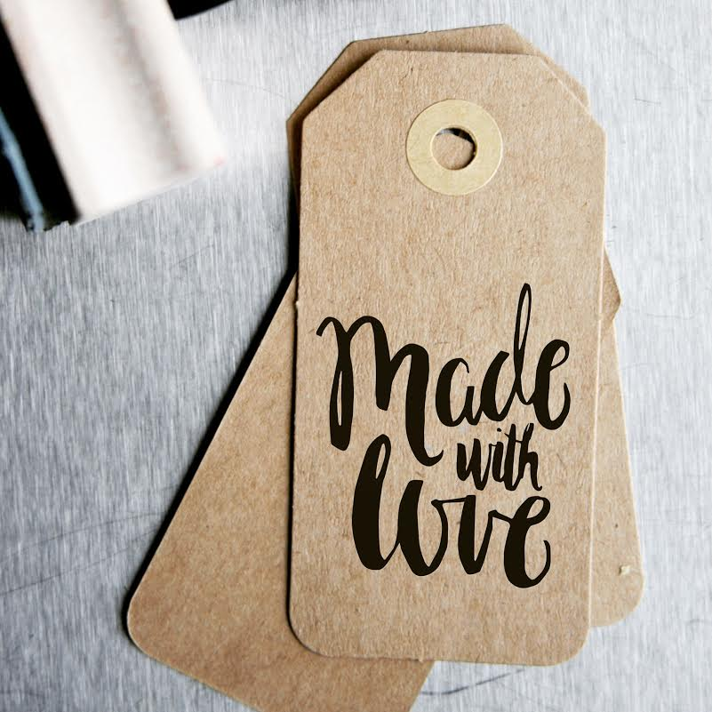 custom hand lettered stamp
