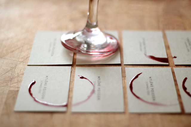DIY Rubber Stamp Business Cards