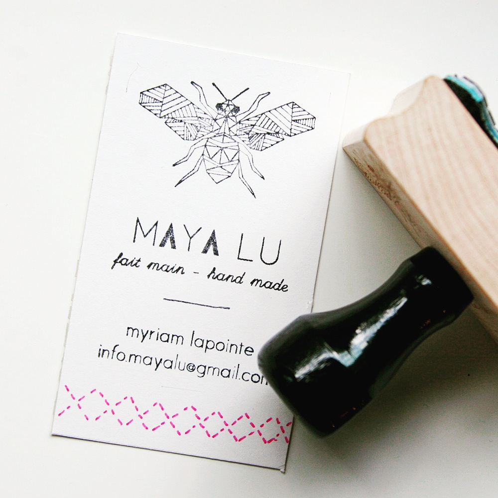 Custom Logo & Business Card Stamp - Sarah Types