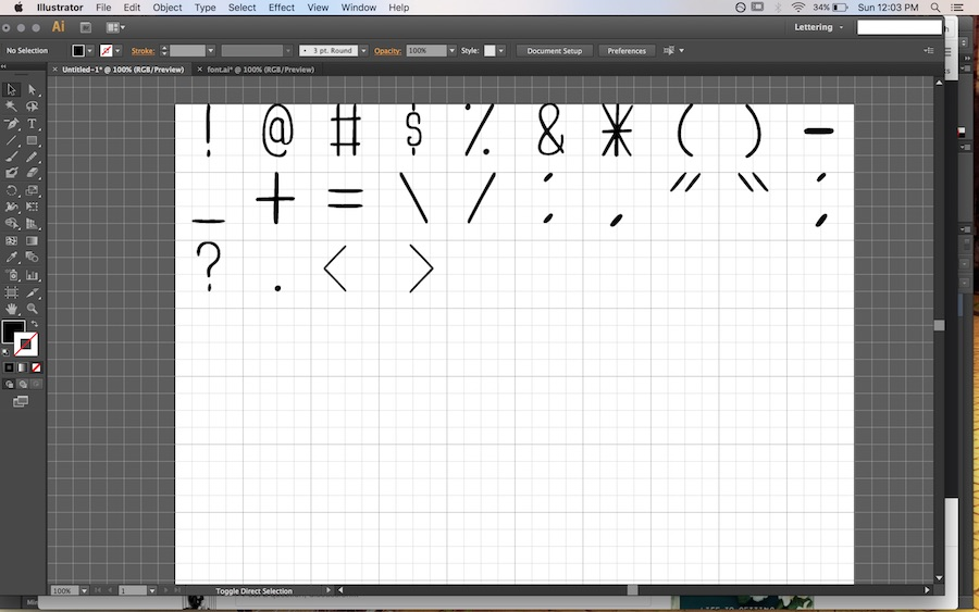 How I Created My First Font!