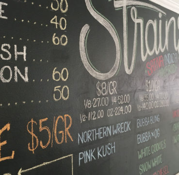 Dispensary Large Chalkboard Menu
